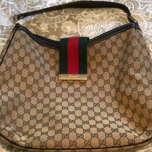 Gucci Hobo Bag Web Gg Muticolor Canvas Tote